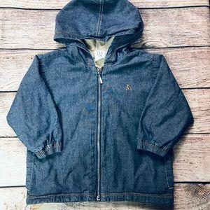Baby Gap 18-24m denim look zip hooded jacket